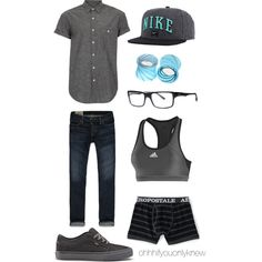 A fashion look from July 2013 featuring adidas sports bras and Hot Topic earrings. Browse and shop related looks. Butch Fashion, Queer Fashion, Androgynous Fashion, Tomboy Fashion, Sport Fashion, Fashion Outfits, Butch Lesbian Fashion, Androgynous Women, Fashion Styles