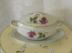 Vintage Royal Sealy Pink Rose Sugar Bowl by OurBarefootCottage, $14.50