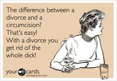 Divorce funny, divorce humor, that's hilarious, haha funny, funny pix. Le Divorce, Divorce Party, Divorce Humor, Dating Quotes, Life Quotes, Woman Quotes, Haha Funny, Lol, Funny Stuff