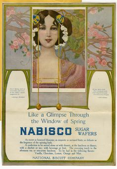 Early 1900s Nabisco ad. (Archives Center, N. W. Ayer Advertising Agency Records.) #spring
