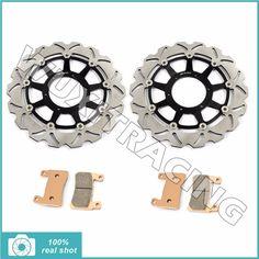 320MM Front Brake Discs Rotors Pads for HONDA VTR 1000 VTR1000 SP1 SP2 RC51 RVT 1000 R RVT1000 R 2000 2001 2002 2003 2004 05 06 #Affiliate