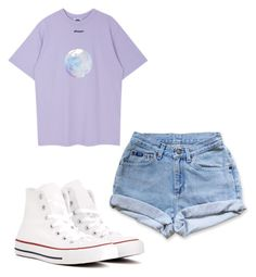 A fashion look from June 2017 featuring seamless t shirt, vintage short shorts and white hi top shoes. Browse and shop related looks. Uni Outfits, Purple Outfits, Outfits 2016, Friend Outfits, Basic Outfits, Grunge Outfits, Cute Casual Outfits, Summer Outfits, Fashion Outfits