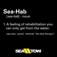 Sea-Hab: a feeling of rehabilitation you can only get from the water. #boats #saltlife #seatow