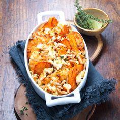 Sweet Potatoes | Süßkartoffel-Auflauf mit Pinienkernen