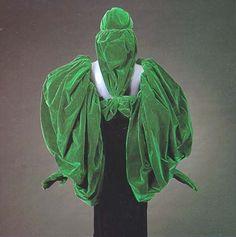 Schiaparelli sleeve gloves and hat, ca. 1938,