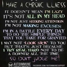 There are numerous hidden illnesses, don't just assume, look out for them http://ozhealthreviews.com/health-tips/7-tips-for-good-mental-health/