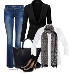 A fashion look from August 2014 featuring J.Crew blouses, J.TOMSON blazers and ONLY jeans. Browse and shop related looks.