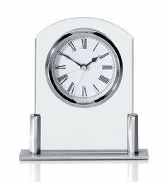 Mini Glass Mantel Clock with Alarm - Marks & Spencer