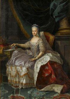 Retrato de la Reina Maria-Antonia de Cerdeña