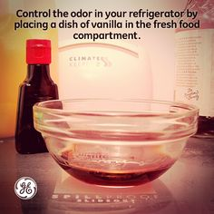 Try this DIY cleaning tip to keep your refrigerator smelling great. All it takes is a small bowl of vanilla.