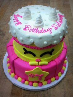 Shopkins Tiered Party Cake for Children