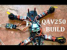 QAV250 FPV Quadcopter Build. Mystery 12A ESC EMax 1806 2280kv Motors KK2 - YouTube
