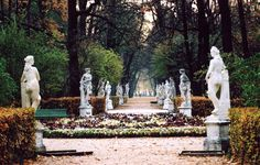 The Summer Garden occupies an island between the Fontanka, Moika, and the Swan Canal in Saint Petersburg and shares its name with the adjacent Summer Palace of Peter the Great.