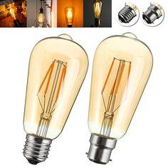 E27/B22 4W ST58 LED COB Incandescent Edison Light Lamp Bulb for Home Hotel Decor