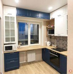 Farm Kitchen Decor, Kitchen Room Design, Home Room Design, Kitchen Cabinet Design, Modern Kitchen Design, Interior Design Kitchen, Booth Seating In Kitchen, Studio Apartment Decorating, Beautiful Kitchens