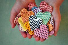 Kleurrijke harten - keramiek hart magneten - Valentine magneten