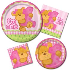 Cuddly Teddy Bear Birthday Party Decorations For Your Sweet Little Girl!What little girl can resist a fluffy soft, cuddly teddy bear, especially one with a bright pink bow in her fur