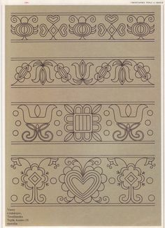 Gallery.ru / Фото #200 - Словенска людова вишивка - tanytryell Embroidery Works, Folk Embroidery, Hand Embroidery Designs, Vintage Embroidery, Cross Stitch Embroidery, Embroidery Patterns, Polish Folk Art, Stitch Book, Egg Art