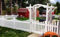 Arbors - Swiss Valley Fence - Swiss Valley Fence Vinyl Picket Fence, Flowering Vines, Arbors, Accent Furniture, Terrace, Greenery, Classic Style, Backdrops, Pergola