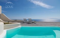 A terrace that unfolds the whole beauty of Santorini, just for you! #view #Aegean #summer2016