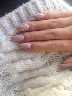 Nude nail x White cashmere sweater #manicure # #VictoriaBC #YYJ