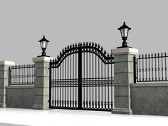 Wrought Iron Gate 15 Model available on Turbo Squid, the world's leading provider of digital models for visualization, films, television, and games. House Fence Design, Front Gate Design, House Outside Design, Main Gate Design, Door Gate Design, Garden Design, Gate Designs Modern, Modern Fence Design, Modern Gates