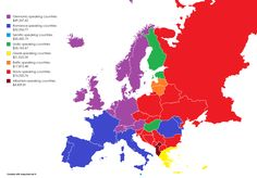 Language families in Europe by GDP per capita