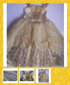 """One of the prettiest Belle costumes i've seen. Also in red for """"holiday"""""""