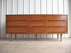 for the bedroom #furniture #midcentury #vintage    60s, 60's, 1960s, 1960's, danish modern, vintage, midcentury modern, mid-century modern, mcm, dresser, wood furniture