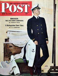 1943 New Naval Officer / John Falter art   #RetroReveries