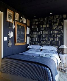 Dark bedroom ideas moody cool a gallery of bedrooms apartment therapy for small blue wall Apartment Furniture, Bedroom Furniture Sets, Bedroom Apartment, Apartment Therapy, Dark Furniture, Luxury Furniture, Apartment Ideas, Furniture Ideas, Blue Bedroom Ideas For Couples