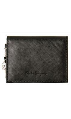 Salvatore Ferragamo Saffiano Leather Credit Card Holder
