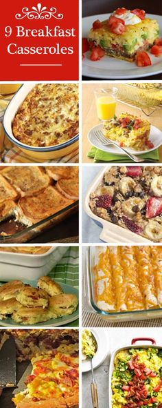 9 Breakfast Casserole - Yum! A great Christmas morning treat!