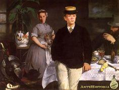 El Almuerzo. 1868.