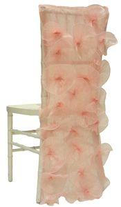 Floral Finesse | Lilybelle Light Pink Chameleon Chair Sleeve