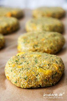 YumYum - Rezept für Quinoa-Frikadellen mit indischen Gewürzen. Sehr bekömmlich und alleriearm, glutenfrei und vegan obendrein ;)