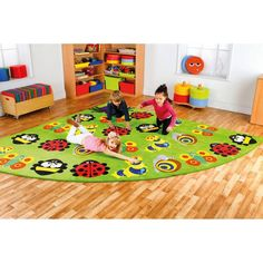Kalokids Back to Nature Large Corner Bugs Carpet - MAT1037