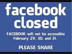 snopes.com: Facebook Closed Feb. 29-30-31?