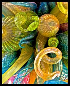 Chihuly glass = Have seen his glass throughout the world with my favorite place being Monte Carlo