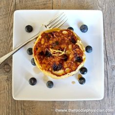 The Foodie Physician . Lemon Ricotta Blueberry Pancakes .