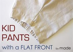 Great tutorial for a little bit more grown-up looking pant or short!  Made a cute pair for Emily's birthday today :)