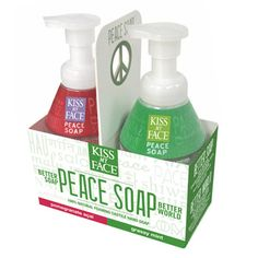 Kiss My Face - PEACE CASTILE FOAM SOAP GIFT PACK $ 9.99