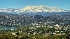 San Diego snow. Cuyamaca Mountain is covered in the white stuff after a winter storm. Photo by Paul W. Koester.