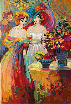 Acrylic on Canvas Original Unique Art Painting Signed by Isaac Maimon Blending In