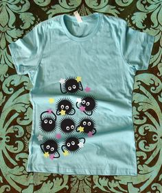 Spirited Away Soot Sprites Girly Fitted T Shirt by teesquare, $19.99