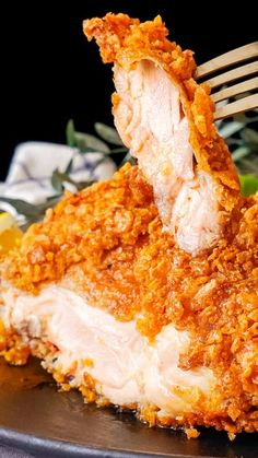 """Once again proving """"more is more. Flake Recipes, Tastemade Recipes, Spicy Chicken Recipes, Crispy Fried Chicken, Dessert Recipes, Food And Drink, Cooking Recipes, Yummy Food, Favorite Recipes"""