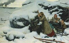 """Finnish painter Albert Edelfelt's """"Isoviha"""". The Greater Wrath (""""Isoviha"""" in Finnish) is a term used to refer to the Russian invasion and occupation of Finland from a part of the Great Northern War Helene Schjerfbeck, Vincent Van Gogh, Mary Cassatt, Camille Pissarro, Henri Matisse, Claude Monet, Art Graphique, Large Art, Art Reproductions"""