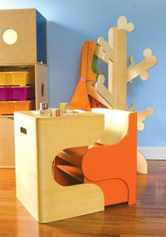 Such a cute little desk and chair!