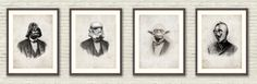 Any Three Vintage Victoria Star Wars Portrait Limited Edition Art Prints by CreativeSpectator on Etsy