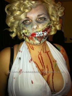Homemade Sexy Marilyn Monroe Zombie Costume